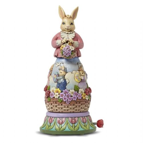 Jim Shore Easter's On It's Way Rotating Musical Bunny